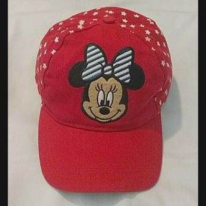 Disney. Minnie Mouse. Baseball cap. Red. S…